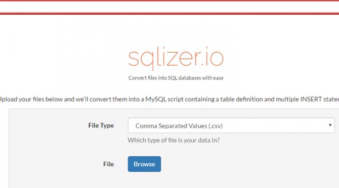sqlizer.io de XLS a MySQL facilmente