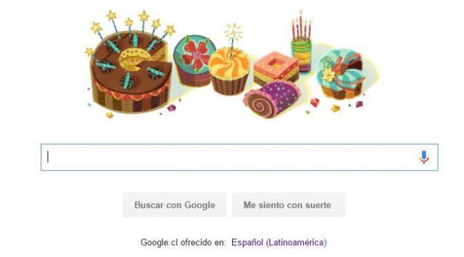 Feliz Cumpleaños me desea Google